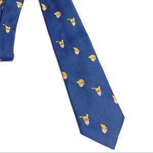 Chippmunk Orange Tabby Cat on the Head Mens Tie